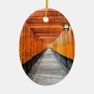 Fushimi Inari Shrine, Kyoto Japan Ceramic Oval Decoration