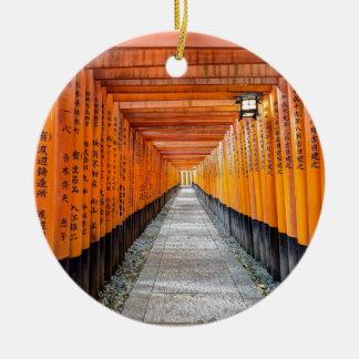 Fushimi Inari Shrine, Kyoto Round Ceramic Decoration