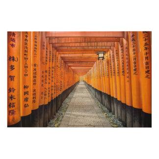 Fushimi Inari Shrine Wood Canvas