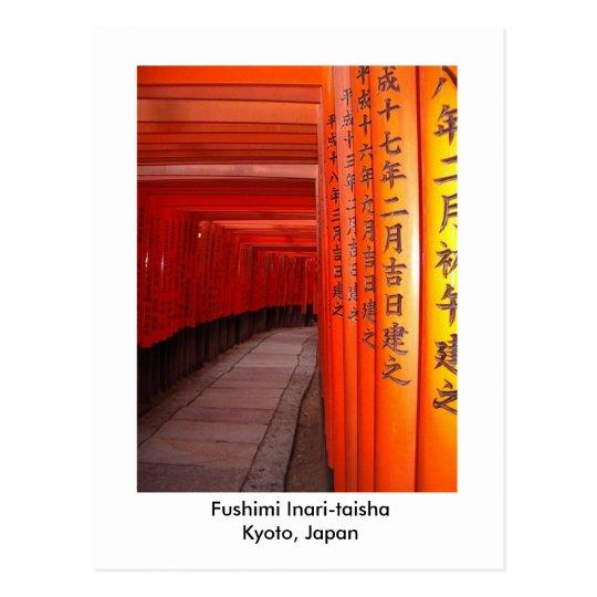 Fushimi Inari-taisha  Kyoto, Japan Postcard