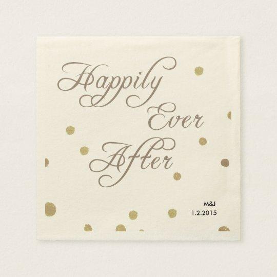 Fusian Romance wedding paper napkins