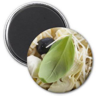 Fusilli Pasta Salad 6 Cm Round Magnet