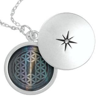 fusion_aurora_mandala round locket necklace