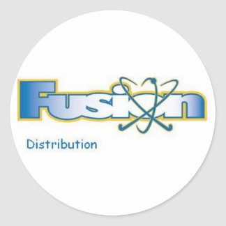 fusion distribution classic round sticker