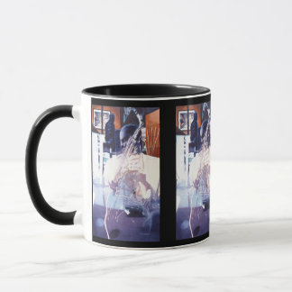 """Fusion"" Jazz Player Watercolor Art Mug"
