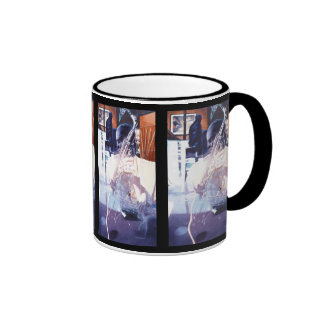 """Fusion"" Jazz Player Watercolor Art Ringer Mug"