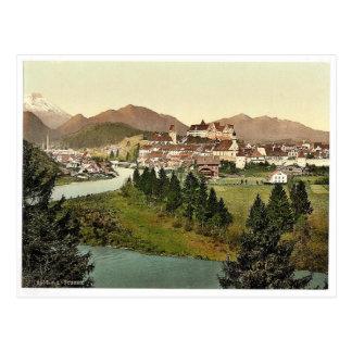 Fussen, Bavaria, Germany vintage Photochrom Postcard