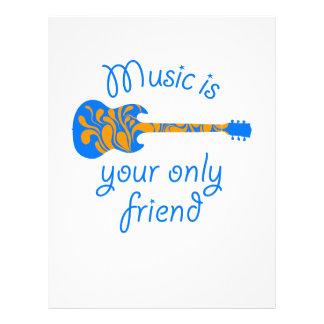 Fussy blue guitar flyer