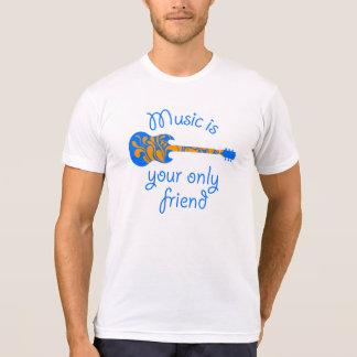 Fussy blue guitar shirt