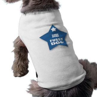 FUSSY DOG Custom Name with Stars V14 Sleeveless Dog Shirt