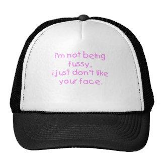 Fussy Face Girl Mesh Hats