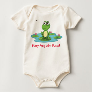 Fussy Frog Ain't Fussy Baby  Sleeper Baby Bodysuit
