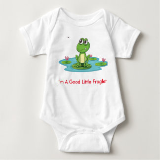 Fussy Frog Happy Quack Infant Creeper, White Baby Bodysuit