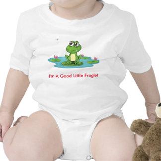 Fussy Frog Happy Quack Infant Creeper, White