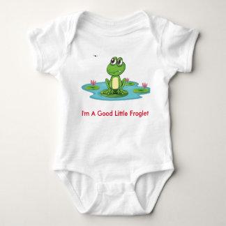Fussy Frog Happy Quack Infant Creeper, White T Shirt