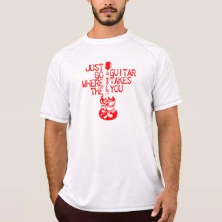 Fussy red guitar tshirt