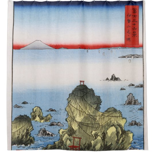 Futami Bay in Ise Province Hiroshige nautical Shower Curtain