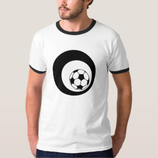 futbol. black circles. t shirt