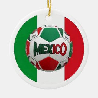 FUTBOL MEXICO ROUND CERAMIC DECORATION
