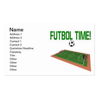 Futbol Time Pack Of Standard Business Cards