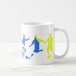 futebol brasileiro basic white mug