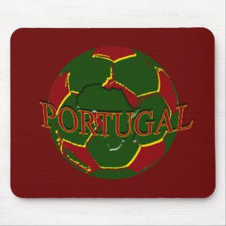 Futebol Português - Bola nos Cores Portugueses Mousepad