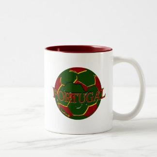 Futebol Português - Bola nos Cores Portugueses Coffee Mugs