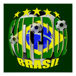 Futebol round brazil soccer ball 5 star gifts posters
