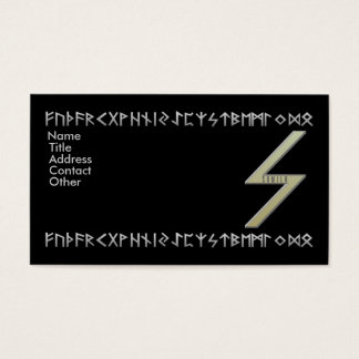 Futhark Sowilo Rune gold Business Card