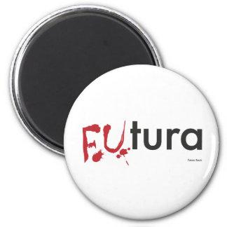 Futura - Blood dripping Font - Happy Halloween 6 Cm Round Magnet