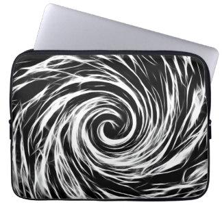Future Abstract BW- Neoprene Laptop Sleeve 13 inch