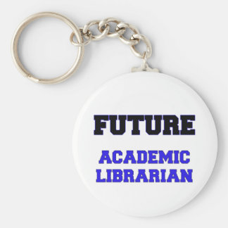 Future Academic Librarian Basic Round Button Key Ring