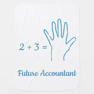 """""""Future Accountant"""" with Simple Math Equation Baby Blanket"""