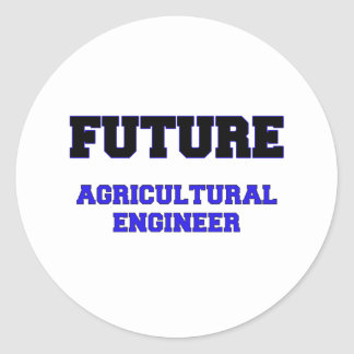 Future Agricultural Engineer Round Stickers
