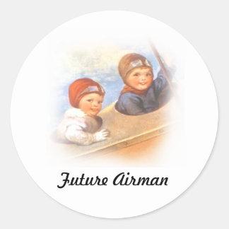 Future Airman Round Sticker