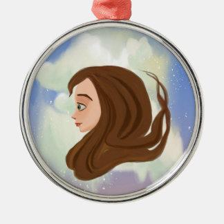 future and past girl portrait Ornament