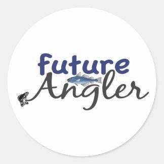 Future Angler (Fishing) Round Sticker