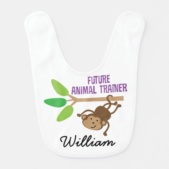 Future Animal Trainer Personalised Baby Bib