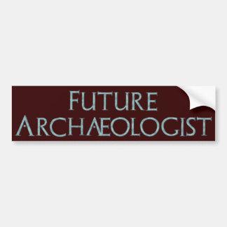 Future Archaeologist Bumper Sticker