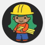 Future Architect / Engineer Round Sticker