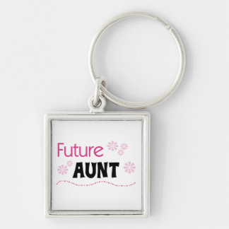 Future Aunt Black and Pink T-shirts and Gifts Key Ring