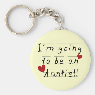 Future Auntie Kid Print Tshirts and Gifts Basic Round Button Key Ring