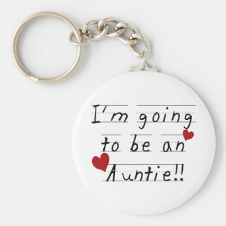 Future Auntie Kid Print Tshirts and Gifts Key Ring