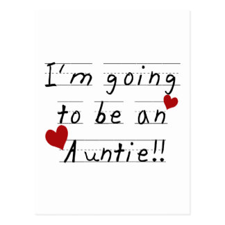 Future Auntie Kid Print Tshirts and Gifts Postcard