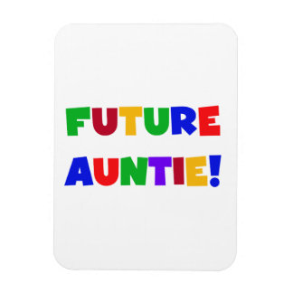 Future Auntie Primary Colors T-shirts and Gifts Vinyl Magnets