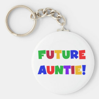 Future Auntie-Primary Colors Tshirts and Gifts Key Ring