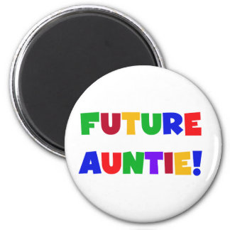Future Auntie-Primary Colors Tshirts and Gifts Refrigerator Magnet