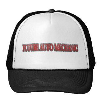 FUTURE AUTO MECHANIC RED VINTAGE TRUCKER HAT