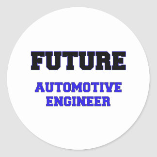 Future Automotive Engineer Round Sticker