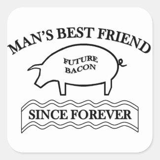 Future Bacon Square Sticker